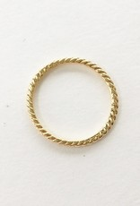 302 COLLECTION Skinny Rope Band Ring