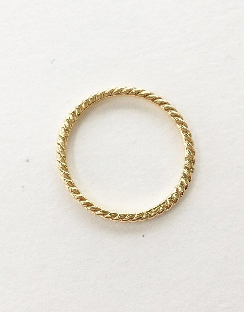 LAUREN FINE JEWELRY Skinny Rope Band Ring