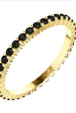 302 COLLECTION Black Diamond Eternity Band Ring