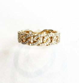 LAUREN FINE JEWELRY Diamond Pave Link Ring 1/4CTW