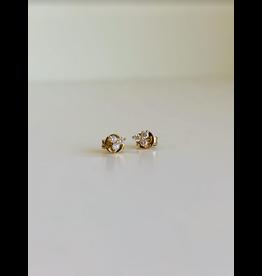 LAUREN FINE JEWELRY Three Stone Diamond Studs