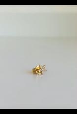 LAUREN FINE JEWELRY Tiny Diamond Star Studs
