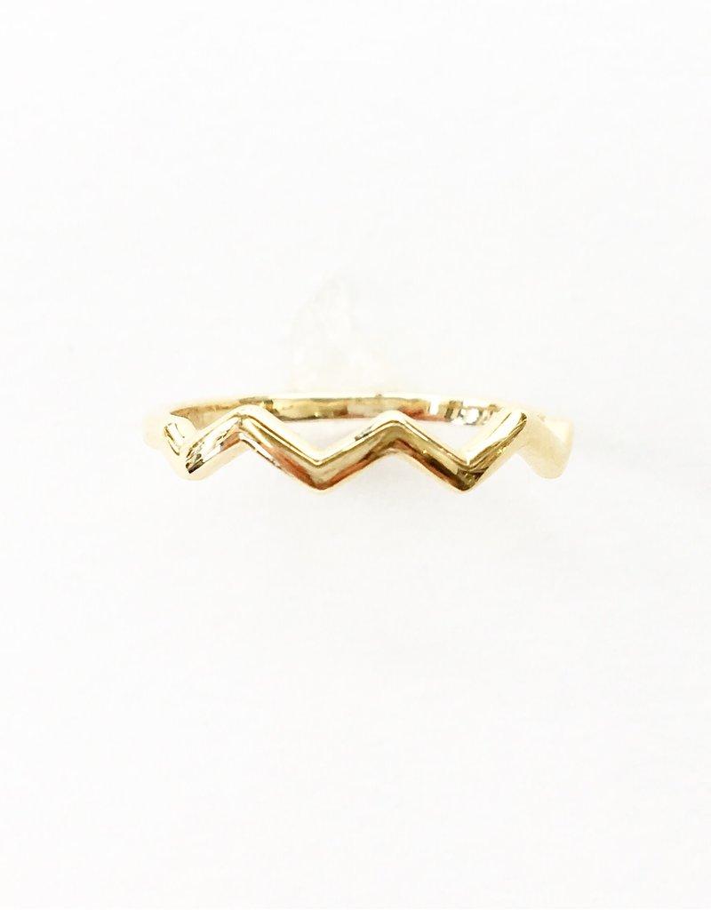 LAUREN FINE JEWELRY Zig Zag Ring - Yellow Gold