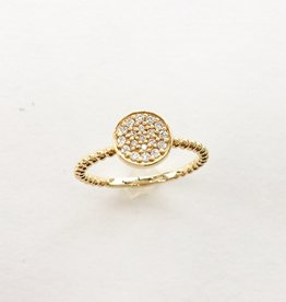 302 COLLECTION Round Diamond Cluster Beaded Ring