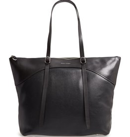 REBECCA MINKOFF Signature Top Zip Tote - Black