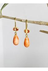 MALLARY MARKS Apple & Eve - Light Orange Saphhire with Coral Earrings