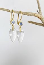 MALLARY MARKS Apple & Eve - Light Sapphire and Clear Quartz Earrings
