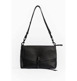 REBECCA MINKOFF Darren Top Zip Shoulder Bag - Black