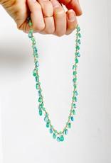 MALLARY MARKS Spun Sugar Necklace - Emerald and Apatite