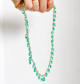 MALLARY MARKS Spun Sugar Necklace - Emerald and Apatite
