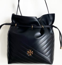 TORY BURCH Kira Chevron Bucket Bag - Black