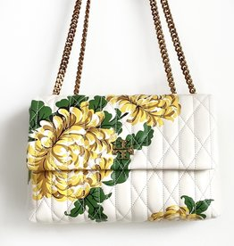 TORY BURCH Kira Chevron Quilted Floral Convertible Shoulder Bag - Yellow Floral