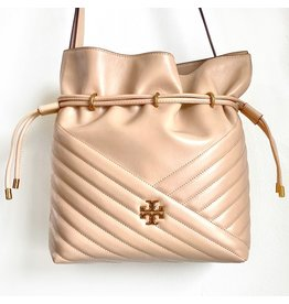 TORY BURCH Kira Chevron Bucket Bag - Devon Sand