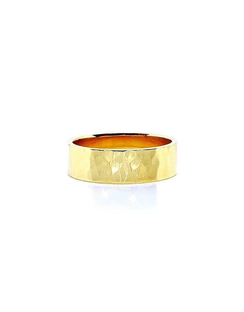 302 COLLECTION Hammered Gold Band Ring