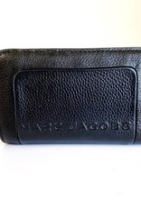 MARC JACOBS Pebbled Leather Compact Wallet - Black