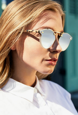 KREWE STL Nylon - Matte Oyster to Crystal 24K Mirror