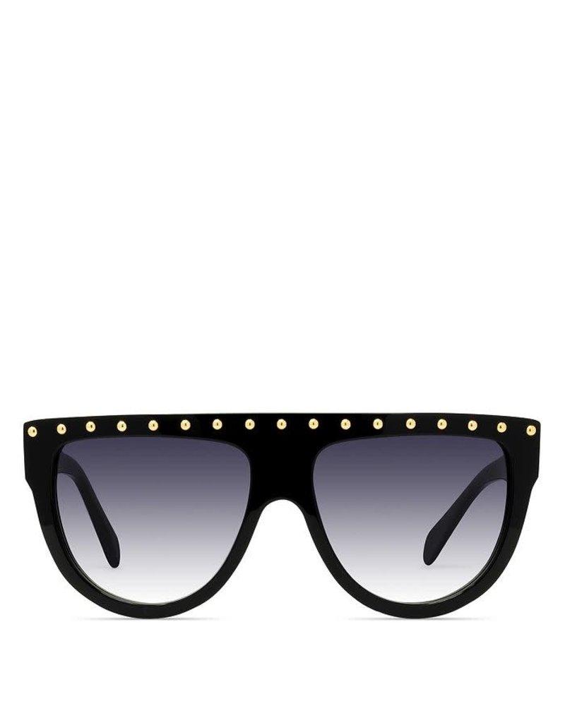 CELINE 4001IS Embellished Aviator - Black with Gold Studs