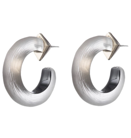 ALEXIS BITTAR Small Thin Hoops - Warm Grey