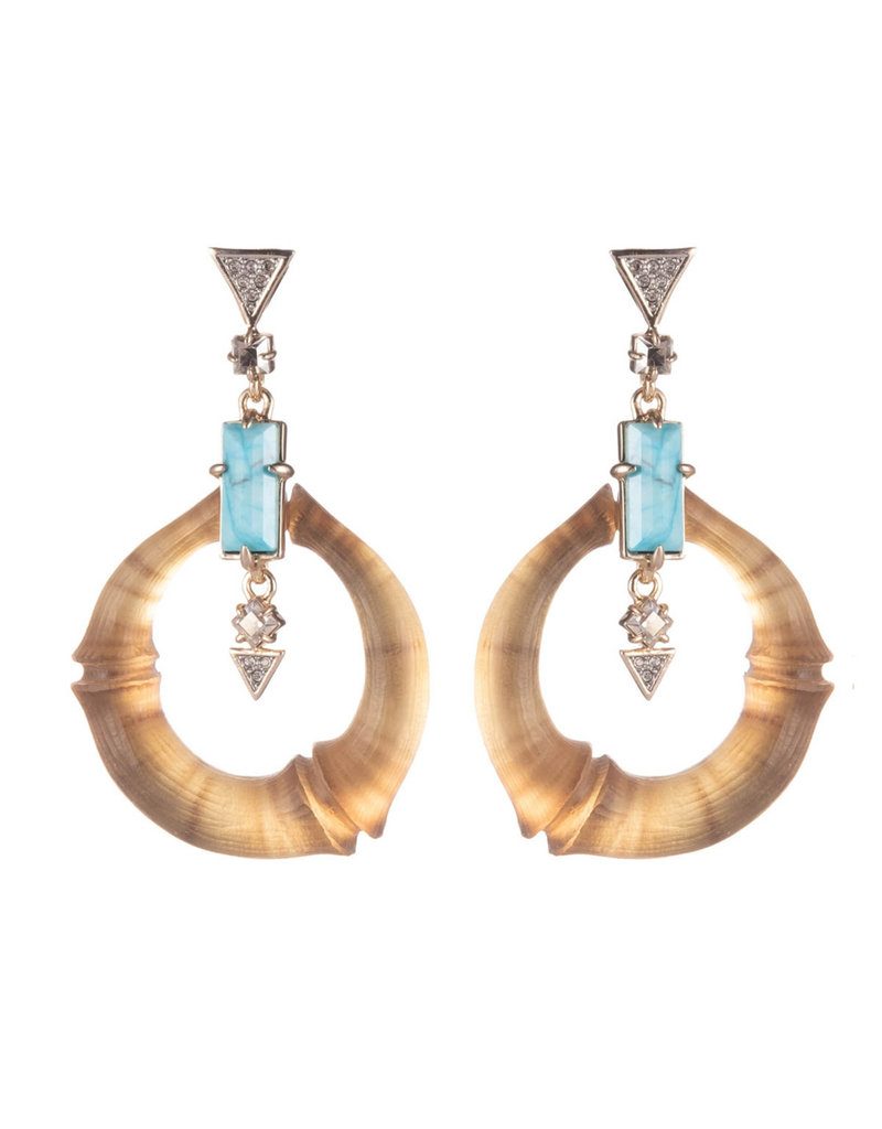 ALEXIS BITTAR Dangling Bamboo Link Post Earrings