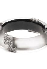 ALEXIS BITTAR Crystal Encrusted Asymmetrical Inlay Bracelet -