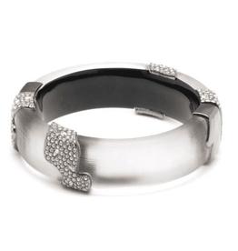 ALEXIS BITTAR Crystal Encrusted Asymmetrical Inlay Bracelet