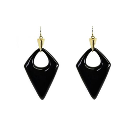 ALEXIS BITTAR Pointed Pyramid Drop Earrings - Black