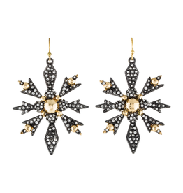 ALEXIS BITTAR Pave Snowflake Crystal Drop Earrings