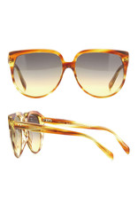 CELINE 4048IN - Striped Brown with Honey Gradient Lens