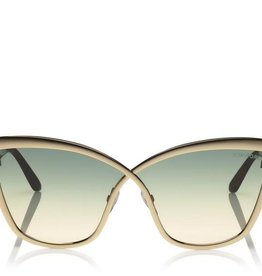 TOM FORD Sandrine - Rose Gold Blue Lens