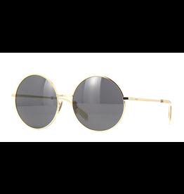 CELINE 40076U - Oversized Round Gold Frame with Smoke Lens