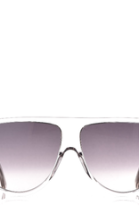 CELINE 40006 Thin Flat Top Shield - Crystal