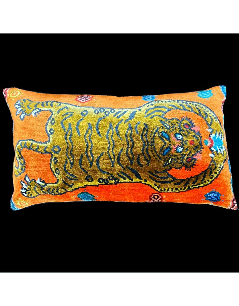 Tiger Skin Pillow - Orange