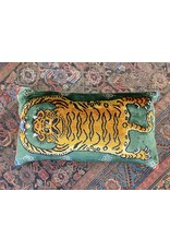 Tiger Skin Pillow - Green