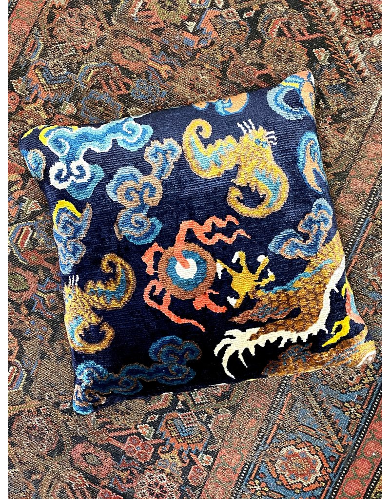 Dragon Tail with Bat Pillow - Blue