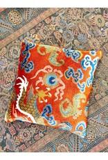 Dragon Tail with Bat Pillow - Orange