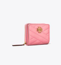 TORY BURCH Kira Chevron Bi-Fold Wallet - Pink City