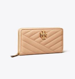 TORY BURCH Kira Chevron Zip Continental Wallet - Devon Sand