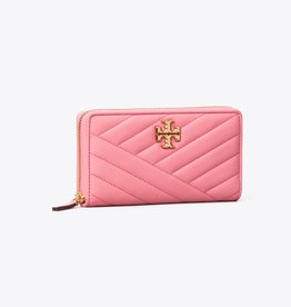 TORY BURCH Kira Chevron Zip Continental Wallet - Pink City