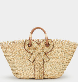 ANYA HINDMARCH Large Bow Basket - Natural Seagrass