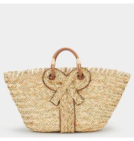 ANYA HINDMARCH Large Bow Basket - Natural Seagrass