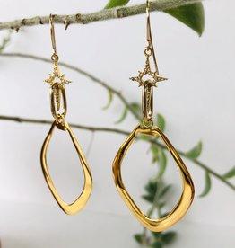 SENNOD Marquis with Diamond Star Earrings