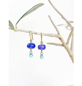 MALLARY MARKS Spun Sugar Earrings - Tanzanite & Light Blue Zircon