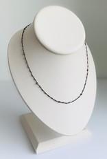 "MIZUKI 18"" Silver & Gold Beaded Necklace"