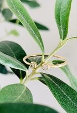 MIZUKI Two Diamond Open Ring