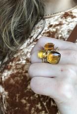 POMELLATO Citrine Quartz Nudo Ring