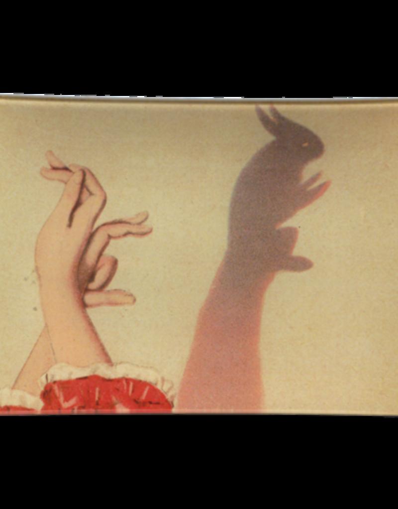 JOHN DERIAN Bunny Shadow Puppet Rectangle Tray