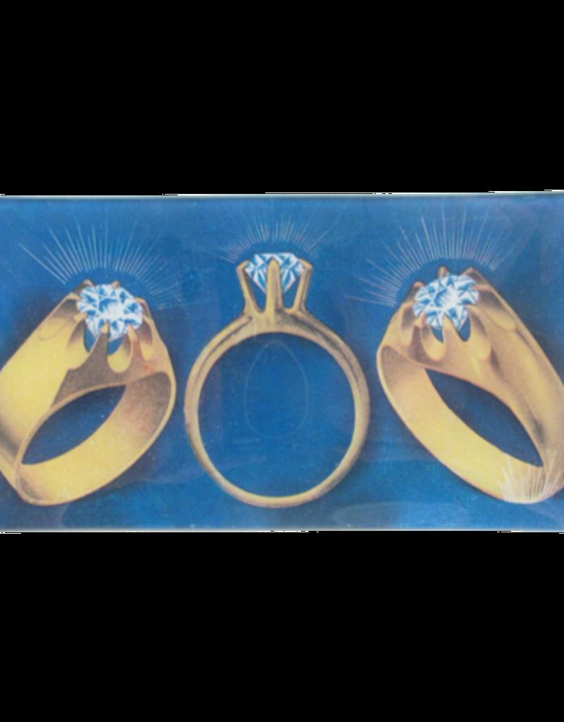 JOHN DERIAN Three Rings Rectangle Tray