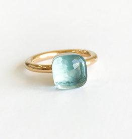 POMELLATO Blue Topaz Nudo Ring