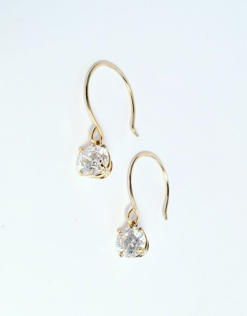 SHANNON JOHNSON Shanna Gold Cubic Zircon Earrings
