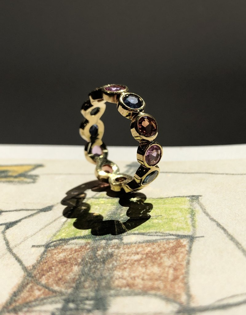 TEMPLE ST CLAIR Multi Sapphire Band Ring